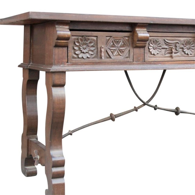 Spanish Colonial Style Console Table - Image 3 of 6