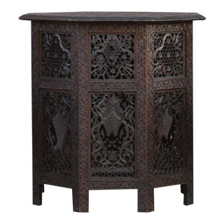 Rare Beautifully Carved Anglo Indian Table