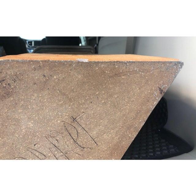 "Brutalist Vase Form Glazed Pottery 36"" High Sculpture Signed by the Artisan For Sale - Image 10 of 13"