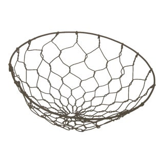 Antique French Gathering Basket For Sale