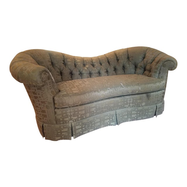 Baker Furniture Victorian Style Loveseats - Pair For Sale