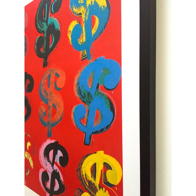 """Andy Warhol Estate Rare Vintage 1989 1st Edition Lithograph Print Large Framed Pop Art Poster """" Dollar Signs """" 1982 For Sale - Image 10 of 13"""