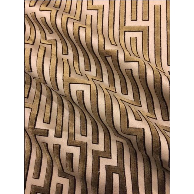 Pair of Kravet Couture Velvet pillows in color Coin. Solid Scalamandre Velvet for the backs. Pillows have a zipper for...