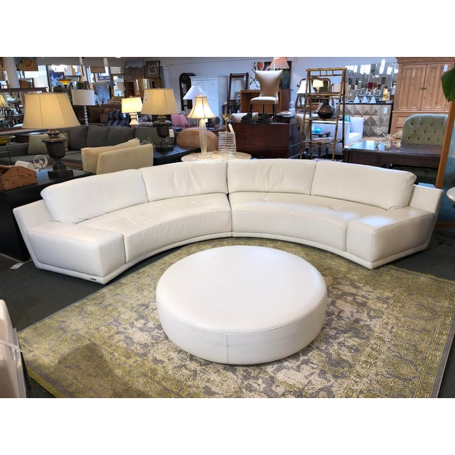 2010s Solstice Curved Sectional + Ottoman From Roche Bobois For Sale - Image 5 of 12