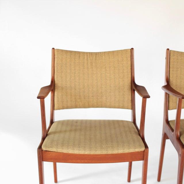 Uldum Møbelfabrik Mid Century Danish Modern Johannes Andersen for Uldum Møbelfabrik Dining Chairs- A Pair For Sale - Image 4 of 11
