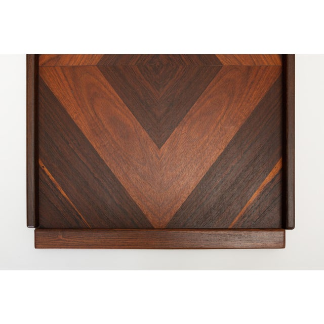 Senal Diamond Motif Rosewood Tray by Don Shoemaker for Señal For Sale - Image 4 of 9