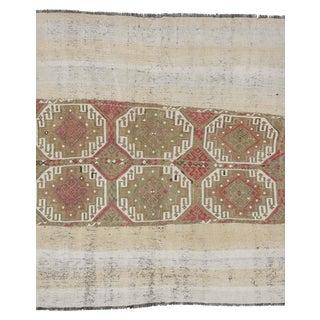 Vintage Turkish Decorative Kilim Rug- 5′2″ × 5′5″ For Sale