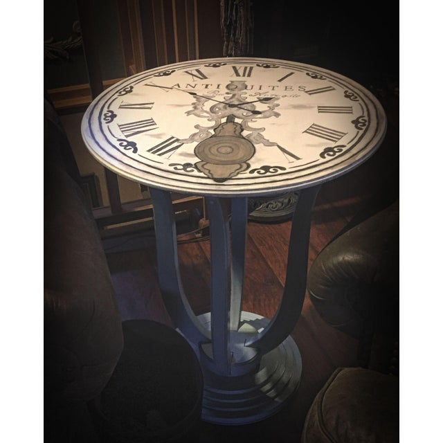 French Clock Accent Table For Sale - Image 7 of 7