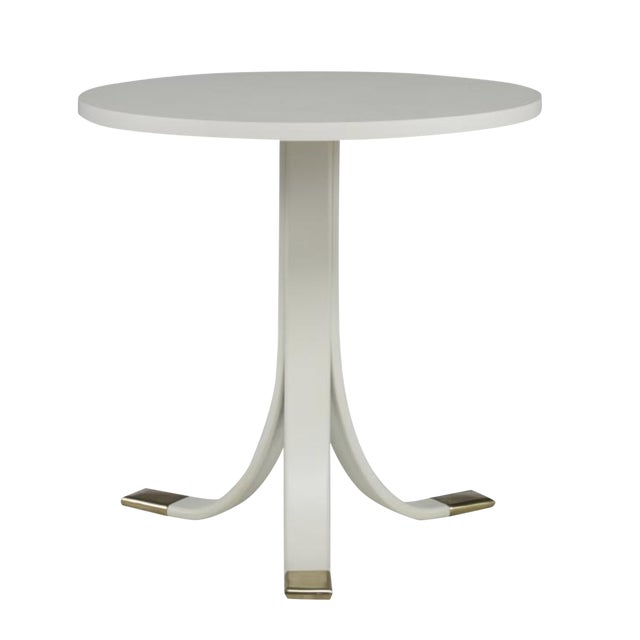 Earl Side Table in Oyster Finish For Sale