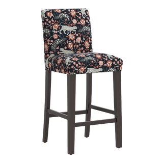 Bar stool in Leopard Coral Navy For Sale