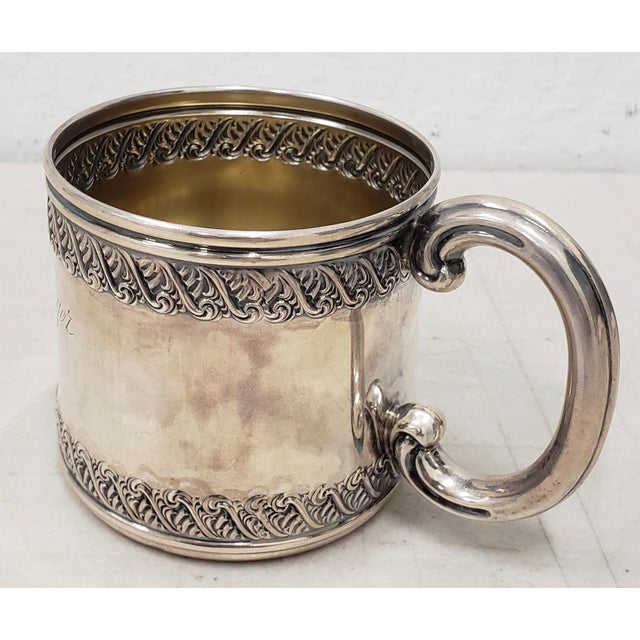 Late 19th Century Sterling Silver Christening Cup C.1896 For Sale - Image 4 of 8