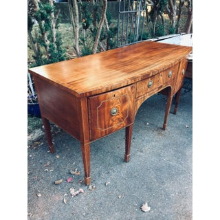 Antique Inlaid Bowfront Sideboard Buffet Preview