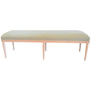 Louis XVI Style Painted Bench for Custom Order For Sale