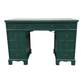 Transitional Green Lacquer Desk