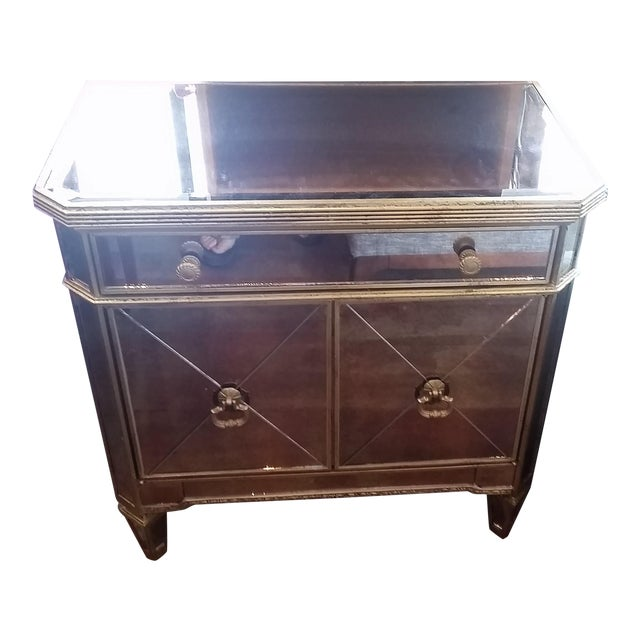 Borghese Mirrored Nightstand - Image 1 of 5