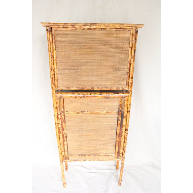 19th Century English Bamboo Vanity Cabinet For Sale - Image 12 of 13