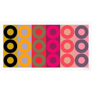 "Color Harmony No.2 Fine Art Print 28"" X 15"" by Liz Roache For Sale"
