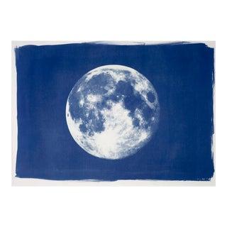Full Moon Large Cyanotype Print