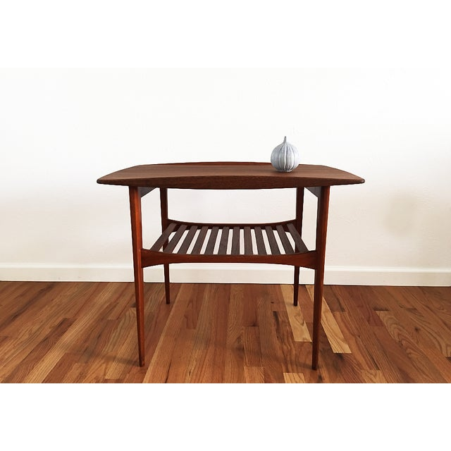 Danish Modern Tove & Edvard Kindt-Larsen 1960s Danish End Table For Sale - Image 3 of 9