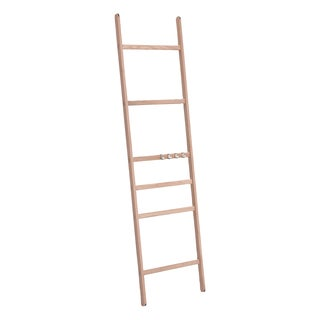 Teak Nomad Ladder With 4 Hooks - Retail $425