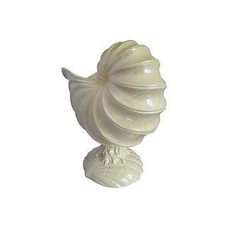 1980s Nautilus Shell Flower Pot or Centerpiece Preview