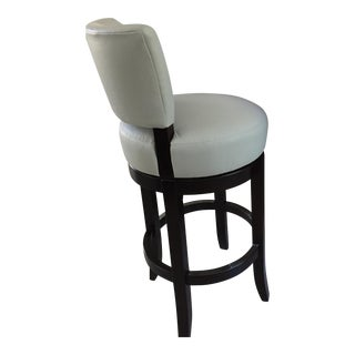 Mahogany Barstools From Charles Stewart- Set Of 3 For Sale
