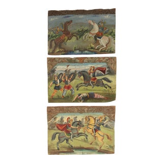 Set of 3 Scilian Cart Paintings For Sale