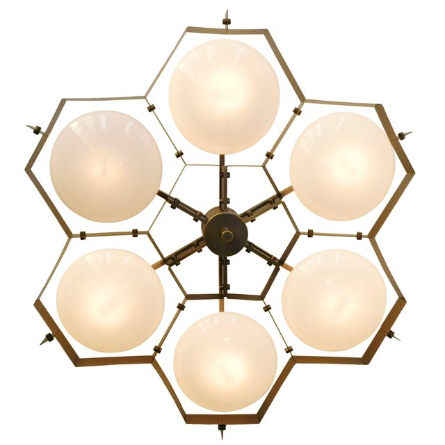 Italian Beehive Flush Mount by Fabio Ltd For Sale - Image 3 of 10