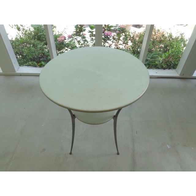 Mid Century Italian Arper Aluminum Table - Image 5 of 10