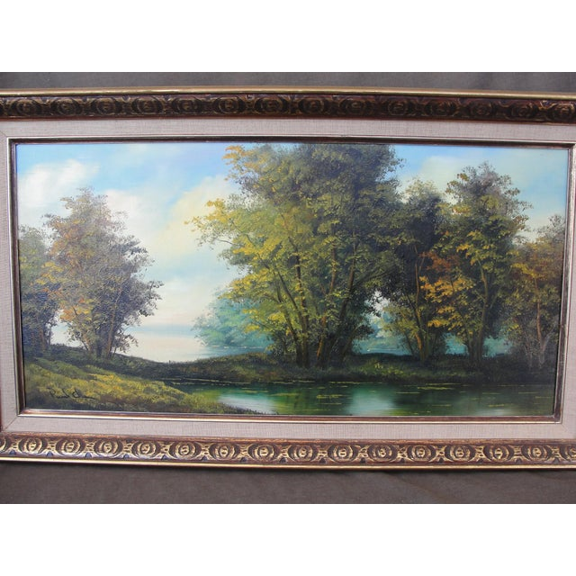 Impressionism Mid Century Oil on Board Landscape Painting by Paul Chen For Sale - Image 3 of 8