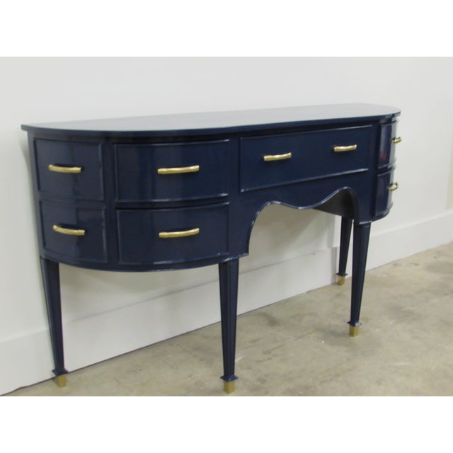 Old Navy Navy Blue Lacquered Mahogany Sideboard - Image 4 of 6