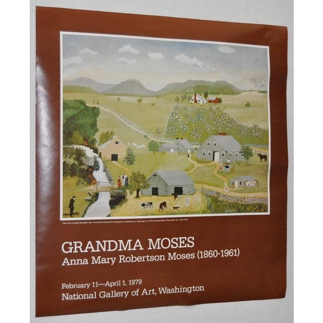 """This is a vintage """"Grandma Moses"""" exhibition poster for the National Gallery of Art in Washington, DC, 1979. It is in fair..."""
