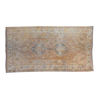 20th Century Mediterranean Wool Oushak Rug - 9′6″ × 4′11″ For Sale