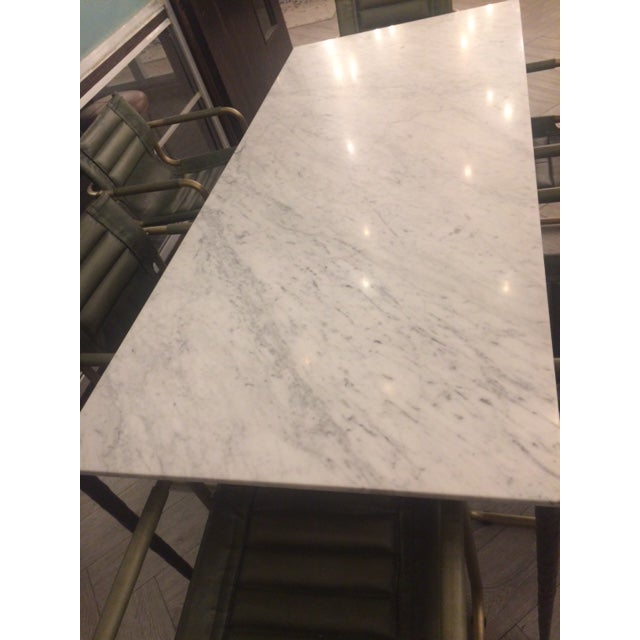 Early 20th Century Marble Dining Table For Sale - Image 5 of 6