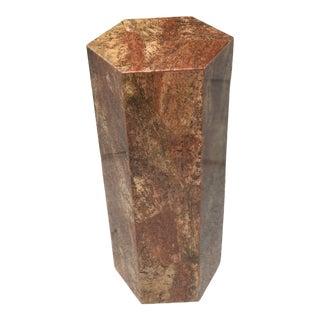 Post Modern Hexagonal Marble Pedestal For Sale