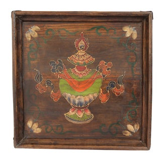 Tibet Painted Serving Tray For Sale
