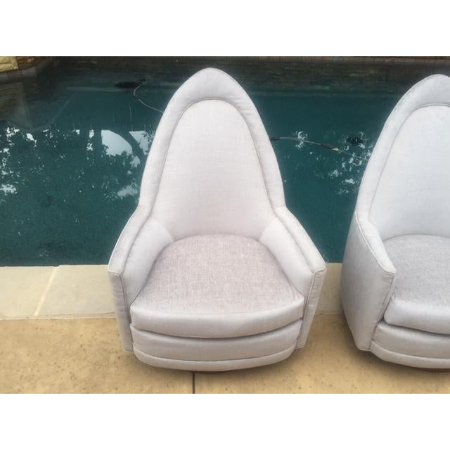 Gray A Pair of Vintage Sculptural Memory Swivel Chairs by Selig Imperial For Sale - Image 8 of 12