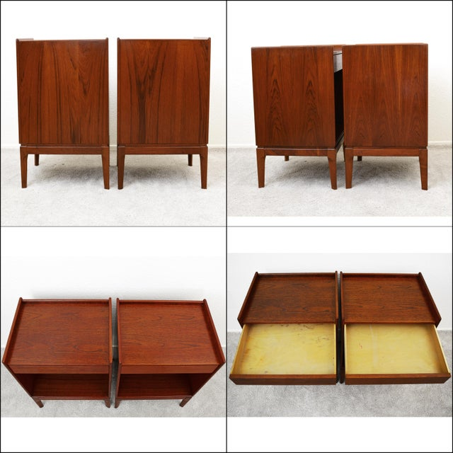 Mid-Century Modern Borge Mogensen Teak Nightstands for Soborg Mobler - a Pair For Sale - Image 3 of 12