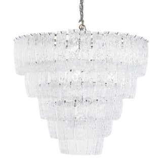 Exceptional Italian Murano Glass Chandelier For Sale