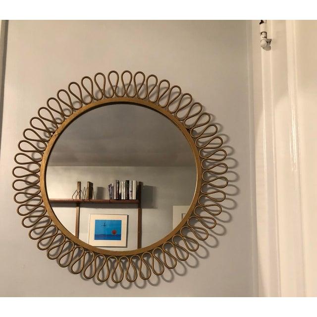 Mid-Century Modern Mid Century Modern Salterini Ribbon Mirror For Sale - Image 3 of 3