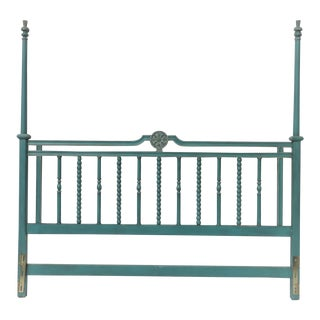 Italian Style Turquoise King Size Headboard For Sale
