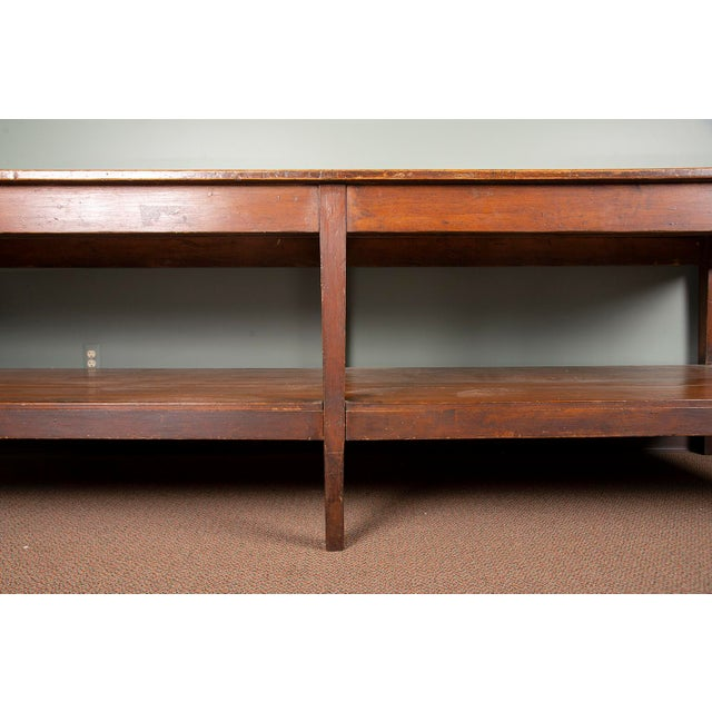 Fabric 19th Century French Pine Drapers Table With Original Finish For Sale - Image 7 of 13