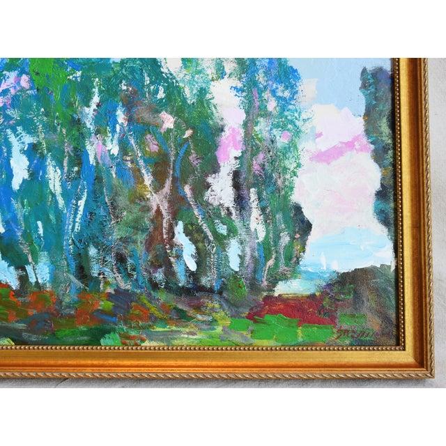 Abstract Santa Barbara California Original Juan Guzman Plein Air Landscape Painting For Sale - Image 3 of 9