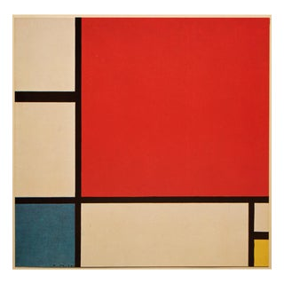"""1958 After Piet Mondrian """"Composition in Red, Blue and Yellow"""" Color Print From England For Sale"""