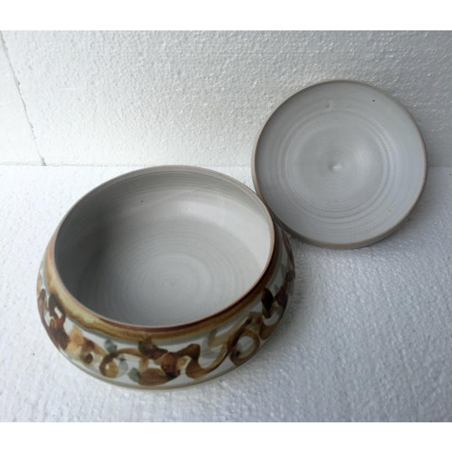 Vintage Studio Pottery Lidded Dish For Sale - Image 5 of 7