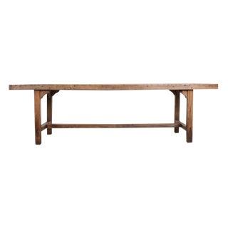 French 19th Century Provincial Oak Farmhouse Trestle Table For Sale