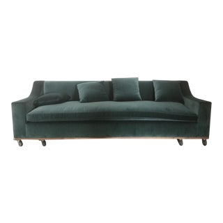 Custom Designer Sofa in Cotton Velvet
