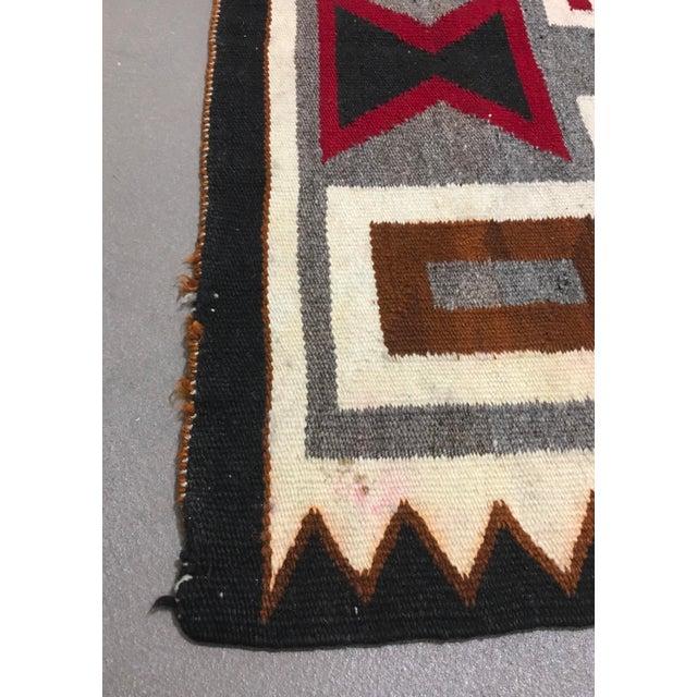 "1930s Vintage Navajo Storm Pattern Rug - 2'8"" X 4'11"" For Sale - Image 5 of 6"