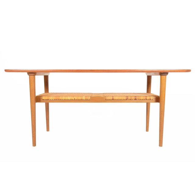 Danish Modern Teak Surfboard Coffee Table - Image 2 of 8