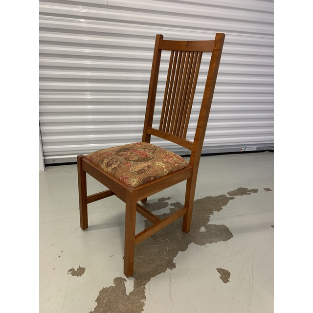 Arts & Crafts Stickley Spindle Arm Chair and Dining Chairs- Set of 10 For Sale - Image 3 of 13
